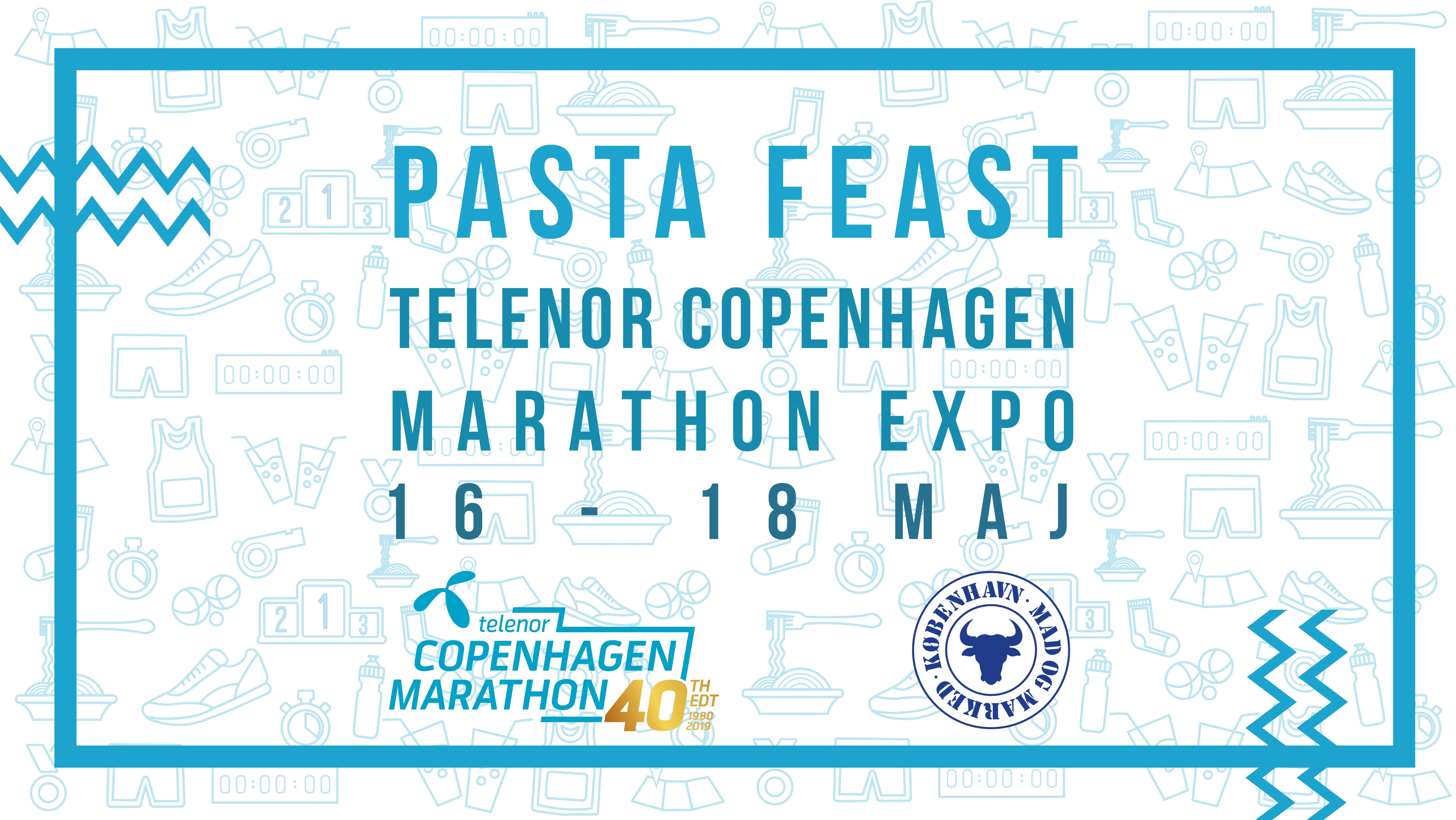 Pasta Feast at Telenor Copenhagen Marathon Expo 2019